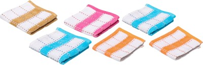 Amour-propre Cotton Face Towel Set(Pack of 6, Blue, Orange, Pink, Brown)