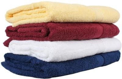 SB Enterprises Cotton 400 GSM Bath Towel Set(Pack of 4, Multicolor) at flipkart