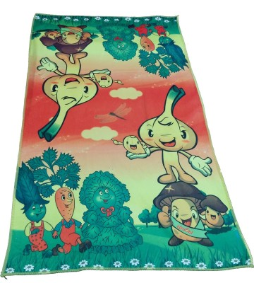 Ruhi's Creations Microfiber Bath Towel(Orange, Green)