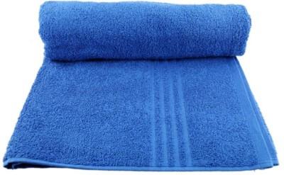 Shopping Store Cotton 425 GSM Bath Towel(Blue) at flipkart