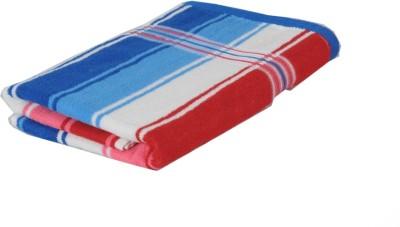 wellwet Cotton Bath Towel(Red, Blue)