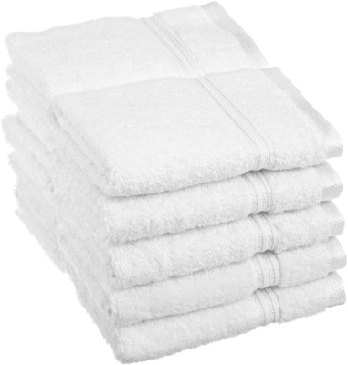 Milap Cotton 350 GSM Face Towel(Pack of 10, White) at flipkart