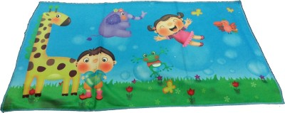 Ruhi's Creations Microfiber Bath Towel(Blue)