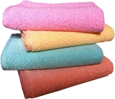 Xy Decor Cotton 400 GSM Hand Towel(Pack of 4, Multicolor) at flipkart