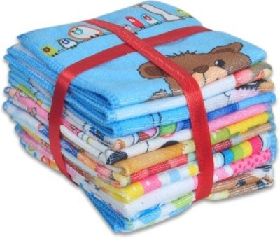 Z Decor Cotton 260 GSM Face Towel Set(Pack of 10, Multicolor) at flipkart