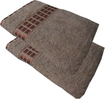 Bigshoponline Cotton 2000 GSM Bath Towel(Pack of 2, Brown) at flipkart
