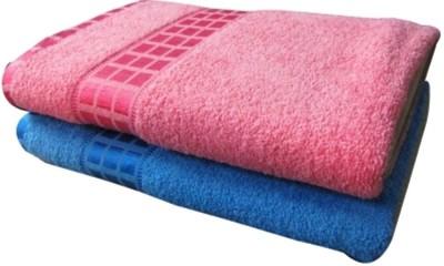 Bigshoponline Cotton 2000 GSM Bath Towel(Pack of 2, Pink) at flipkart