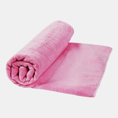 Hydry Microfiber 300 GSM Bath, Sport Towel Set(Pink) at flipkart