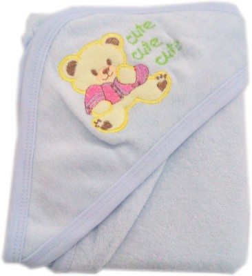 Baby's Clubb Cotton Baby Towel(Light Blue, Blue)