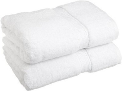 Vtex Cotton Bath Towel(Pack of 2, White)