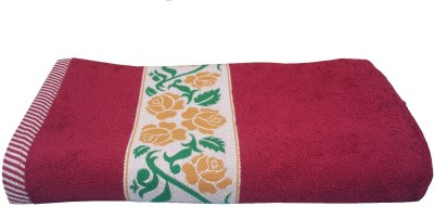 Divine Overseas Cotton 410 GSM Bath Towel(Red) at flipkart