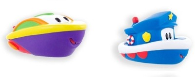 Sassy Harbor Town Squirters - Bandit & Riff Bath Toy(Multicolor)