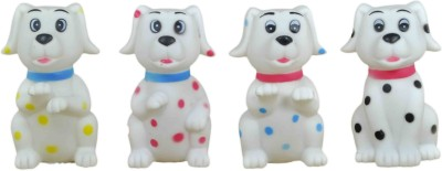 Babysid Collections Bath/ Squeeze Toys - Pack Of 4 Dogs Bath Toy(Multicolor)