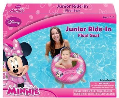 Disney Minnie Mouse Bowtique Baby Toddler Ride-on Float Seat Bath Toy(Multicolor)