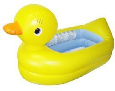 Munchkinz White Hot Inflatable Safety Duck Tub Bath Toy(Multicolor)