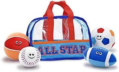 Melissa & Doug Sports Bag Fill & Spill Bath Toy(Multicolor)