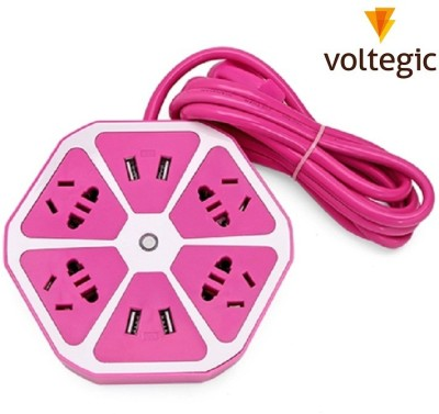 Voltegic ™ 3 PORTS DESKTOP TRAVEL HUB 1.5M LINE WALL 4 POWER Adapter for ALL CHARGEABLE DEVICES Multiport Mobile Charger