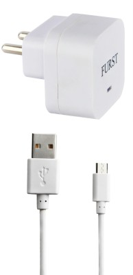 FURST 1.5 Amp. USB Adapter with Cable  1 Mtr  For Lava A52 1 A Mobile Charger with Detachable Cable White