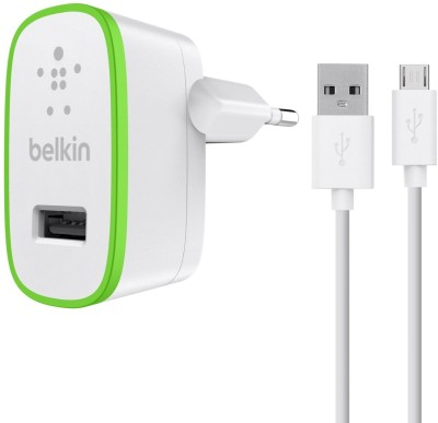 Belkin Universal Home Charger with Micro-USB Mobile Charger(White)  available at flipkart for Rs.1099