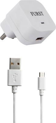 Furst 1.5 Amp. USB Adapter with Cable  1 Mtr  For XLO Q1010i 1 A Mobile Charger with Detachable Cable White
