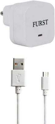 Furst 1.5 Amp. USB Adapter with Cable  1 Mtr  For Znfn 2 Laser ZE550KL 1 A Mobile Charger with Detachable Cable White Furst Wall Chargers