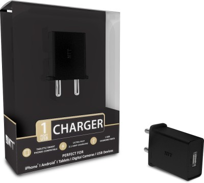 MTT 1 Port 2.1Amp Premium 2.1 A Mobile Charger Black MTT Wall Chargers