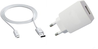 YND V8 Compatible Mobiles Mobile Charger with Detachable Cable White YND Wall Chargers