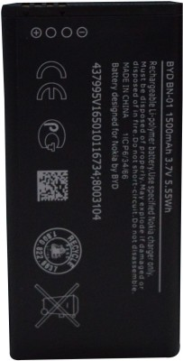 50% OFF on OBS Battery - Battery For BYD BN-01 Battery Nokia X Dual SIM 8003104(Black) on Flipkart | PaisaWapas.com
