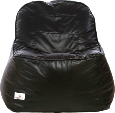 Star XXXL Lounger Bean Bag  With Bean Filling(Black)