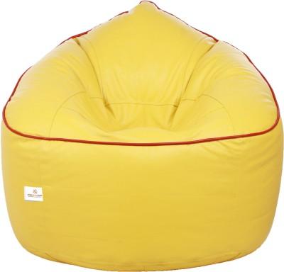 Star XXXL Bean Bag Sofa  With Bean Filling(Yellow, Red)
