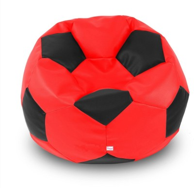 Homez Decor XXL Bean Bag Cover  (Without Beans)(Red)