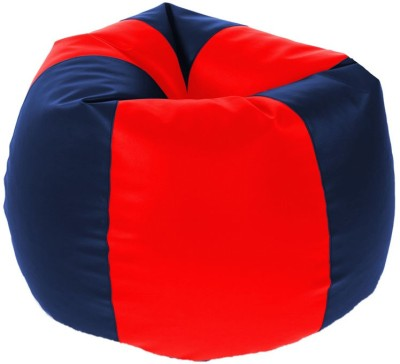 Kainaat Fashion XL Bean Bag Cover  (Without Beans)(Red, Blue) at flipkart
