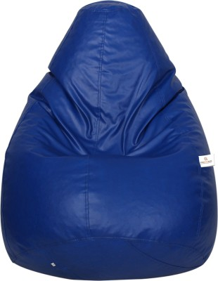 Star XXXL Bean Bag  With Bean Filling(Blue)