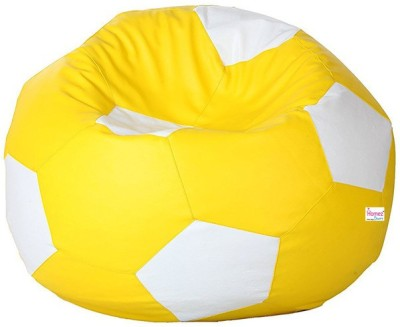Homez Decor XXXL Bean Bag Cover  (Without Beans)(Yellow) at flipkart