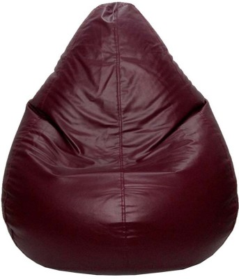 Psygn XXL Teardrop Bean Bag Cover  (Without Beans)(Brown)