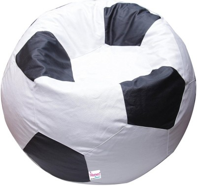Homez Decor Large Bean Bag Cover  (Without Beans)(White)