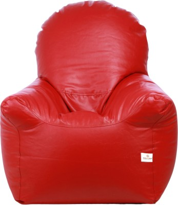 Star XXL Emperor Arm Chair Bean Bag Chair  With Bean Filling(Red)