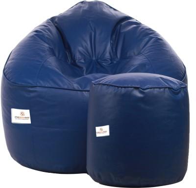 Star XXXL Bean Bag Sofa  With Bean Filling(Blue)