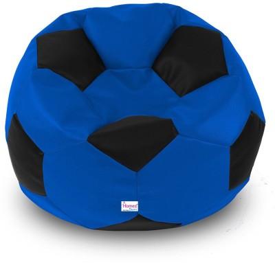 Homez Decor XL Bean Bag Cover  (Without Beans)(Blue)