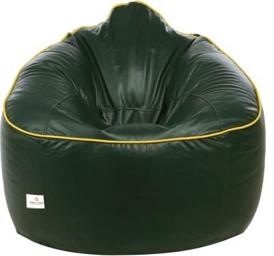 Star XXXL Bean Bag Sofa  With Bean Filling(Green, Yellow)