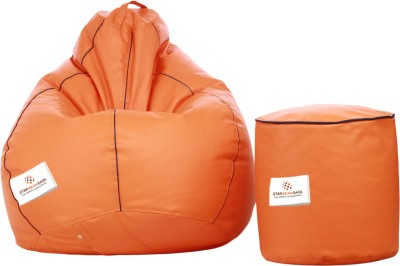 Star XL Bean Bag  With Bean Filling(Orange)