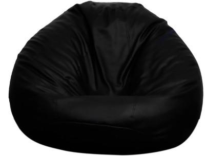 Opulence Lounger XXXL Bean Bag Cover  (Without Beans)(Black)