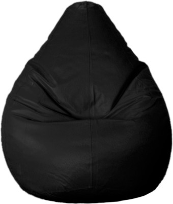 Psygn Large Teardrop Bean Bag Cover  (Without Beans)(Black)