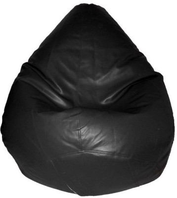 Rooliums Large Bean Chair Cover  (Without Beans)(Black)