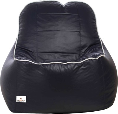 Star XXXL Lounger Bean Bag  With Bean Filling(Blue, White)