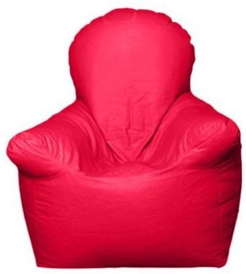 Star XXXL Emperor Arm Chair Bean Bag Chair  With Bean Filling(Pink)