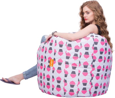 ORKA XXXL Bean Bag Cover  (Without Beans)(Pink, White, Black) at flipkart