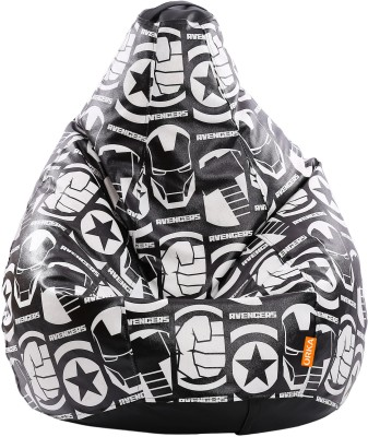 ORKA XXXL Dark Avengers Digital Printed Bean Bag  With Bean Filling(Black, White) at flipkart