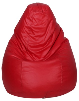 Star XL Muddha Teardrop Bean Bag  With Bean Filling(Red)