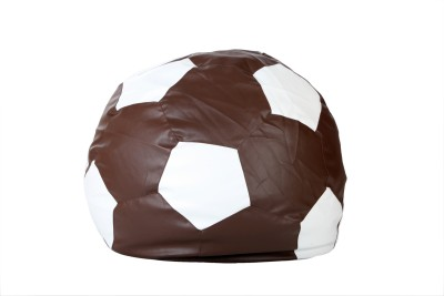 Comfy Bean Bags XXXL Bean Bag Cover  (Without Beans)(Brown, White)